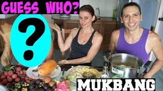 VEGAN MUKBANG + SPECIAL GUEST! Weight loss, Calories, Dieting + more