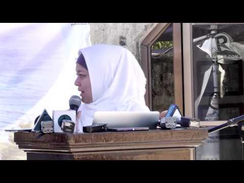 Sitti Hataman at the 47th anniversary of the Jabidah massacre