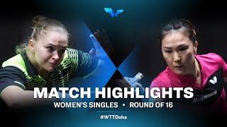 Margaryta Pesotska vs Shan Xiaona | WTT Contender Doha 2021 | Women's Singles | R16 Highlights