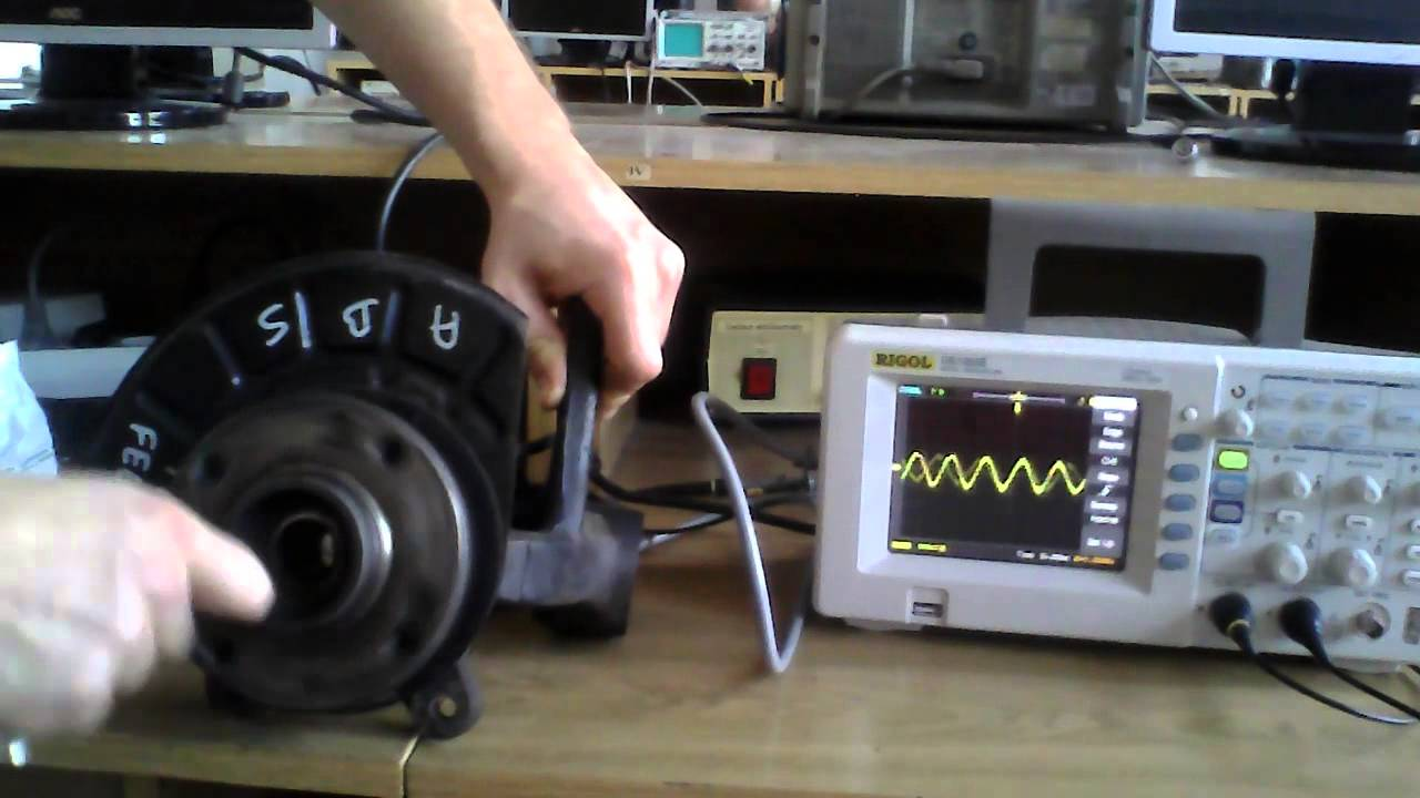 ABS sensor oscilloscope waveform test  YouTube