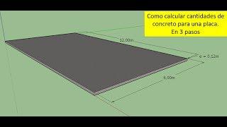 como calcular cantidades de concreto (cemento, arena y grava)