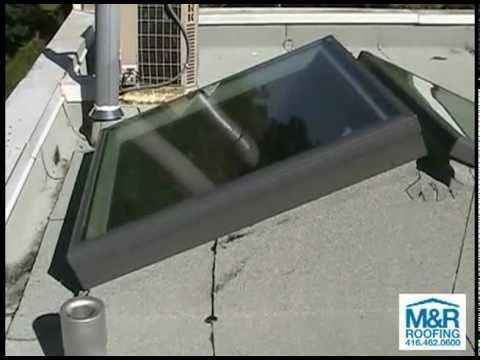 Velux Skylights Installation On Flat Roof Toronto Youtube