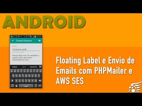 TextInputLayout e Envio de Email no Android com PHPMailer e AWS SES