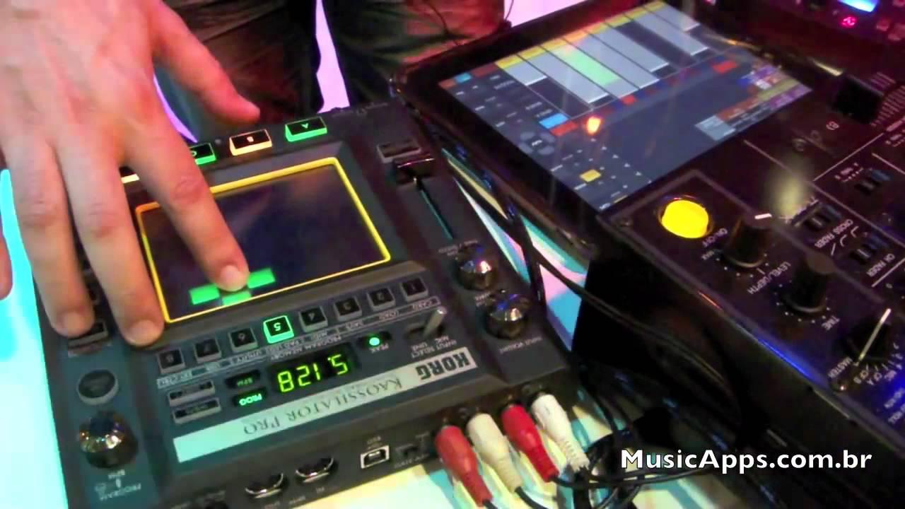 expomusic 2011 korg kaossilator pro e kaoss pad quad youtube. Black Bedroom Furniture Sets. Home Design Ideas