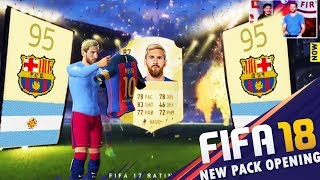 FIFA 18 Ultimate Team First Official Pack Opening! Ft  Ronaldo,Messi