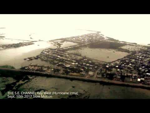 Aerial View of  Mass Flooding of Key West After Hurricane Irma