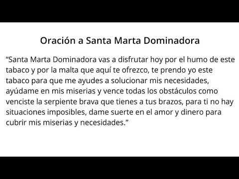 Oración a SANTA MARTA DOMINADORA【100% EFECTIVA】 - YouTube
