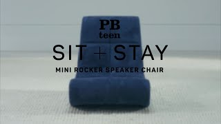 Sit + Stay - Mini Rocker Speaker Chair | PBteen