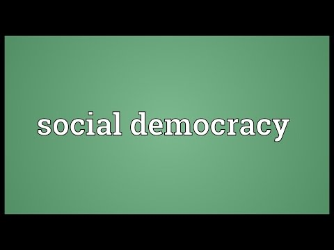 Social democracy Meaning