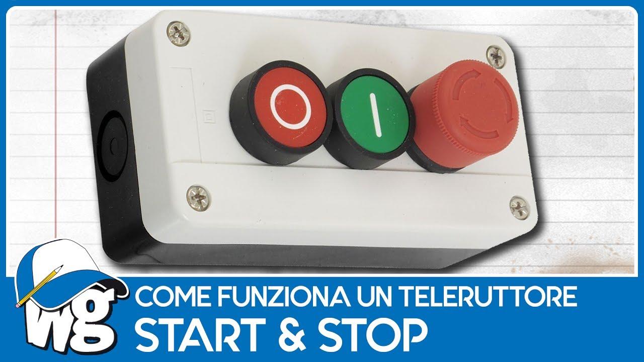 teleruttore ad autoritenuta start stop per motori e banco