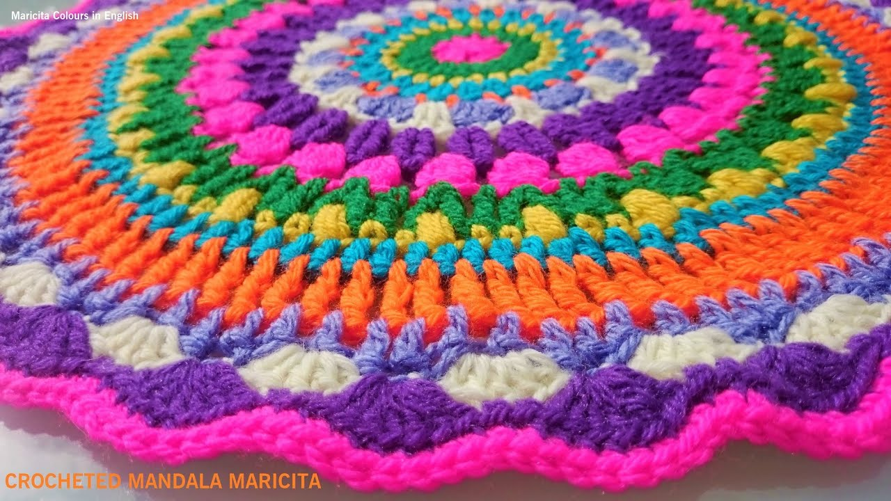 Crocheted Mandala Pattern By Maricita Colours In English Youtube