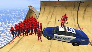 GTA 5 Crazy Ragdolls Spiderman Vs Iron Man Compilation vol.5 (GTA 5 Euphoria Physics Fails Funny)