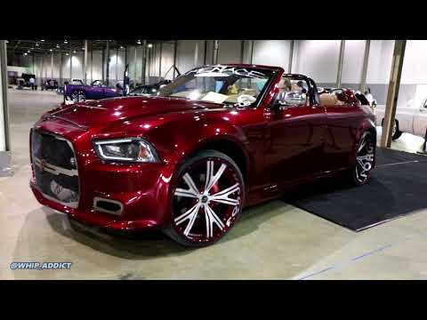 WhipAddict: Chopped Kandy Red Widebody Shaved Door 300 Charger Bagged on Forgiato 24/26s