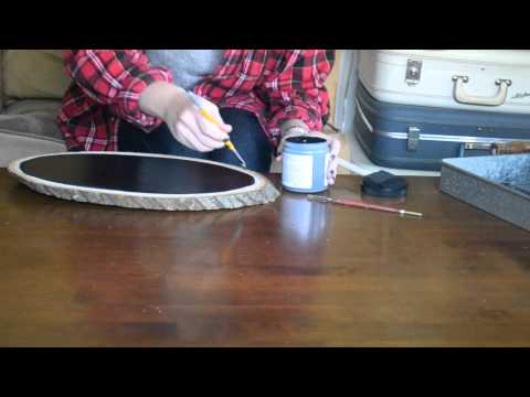 DIY Wood Slice Chalkboard Tutorial