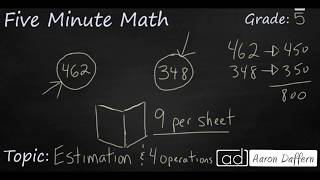 5th Grade Math Estimation with Four Operations