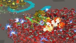8 Bit Invaders - 2v2 MAD HARVESTING | Multiplayer Gameplay