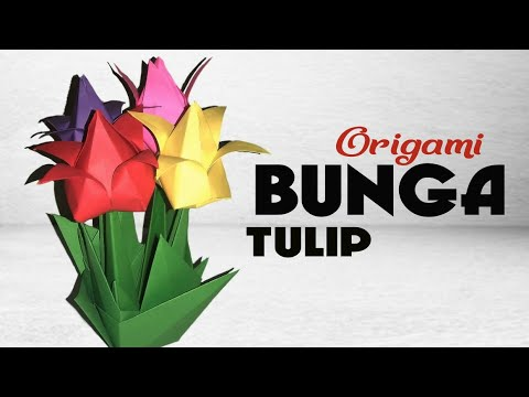 How To Make Paper Tulip Flowers Bouquet || DIY Tulips Flower Vase || Paper Craft