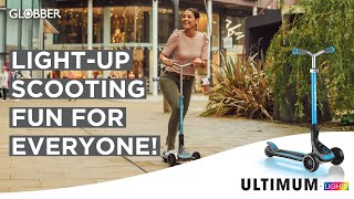 Globber's ULTIMUM LIGHTS 3-wheel foldable & light-up scooter for kids, teens & adults