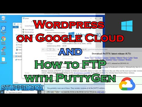 WORDPRESS ON GOOGLE CLOUD  And HOW TO FTP TO IT On Windows