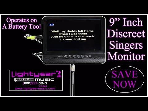 9 inch Professional Karaoke Video LCD Monitor Lightyearmusic (800)557-7464 ✅