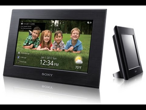 "Cheapo tech: unbox/review of sony s-frame dpf-c70a 7"" photo frame."