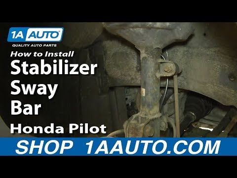 How To Install Replace Front Stabilizer Sway Bar Link 2003-05 Honda Pilot Acura MDX