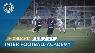 HIGHLIGHTS INTER U16 and U15 | Double match against Atalanta! | Inter Football Academy