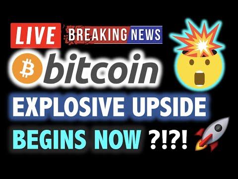 BITCOIN EXPLOSIVE UPSIDE BEGINS NOW ???! 💥❗️LIVE Crypto Analysis TA & BTC Cryptocurrency Price News