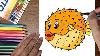 Dạy bé tập vẽ cá cầu gai