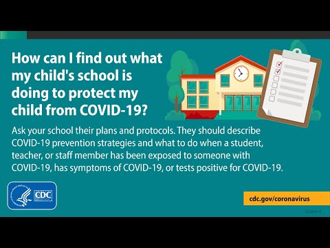 Protect Children from COVID-19 at School