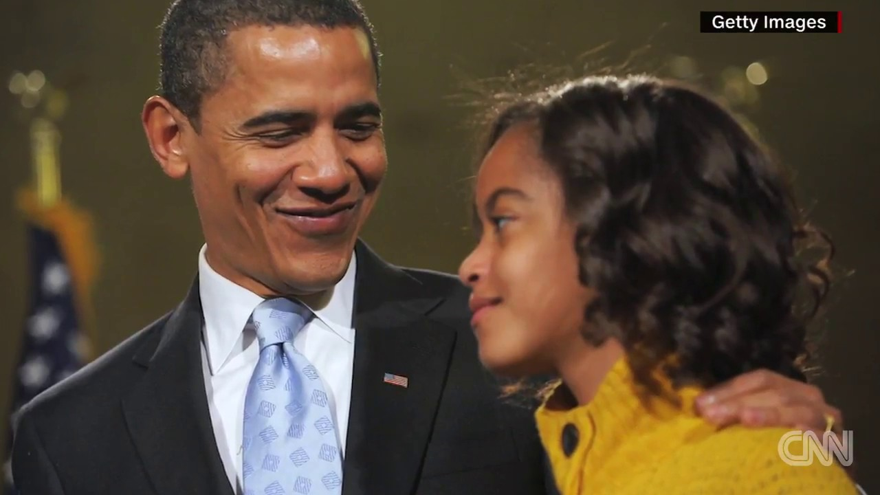 c6731cea690 Barack Obama cried seeing Malia off to college - YouTube