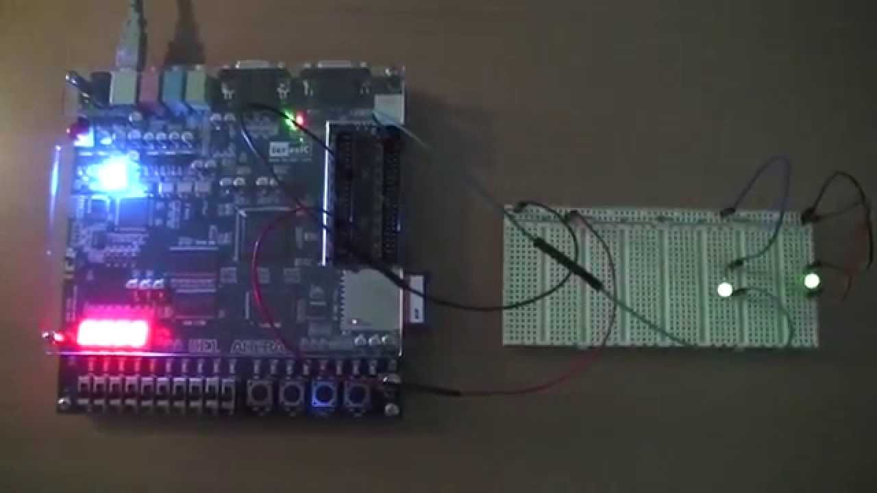 Electronics - Verilog - Blinking a LED with GPIOs | BadproG com