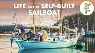 10 Years Building a Wooden Sailboat for Life on the Water - Retired Couple Shares Experience + Tour