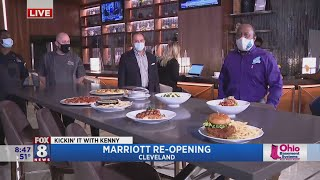 Cleveland marriott downtown is celebrating a grand re-opening that includes many renovations and lots of covid-19 safety precautions. fox 8's kenny crumpton ...