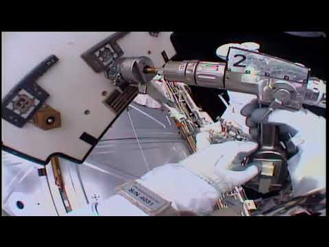 Space Station Crew Conducts Spacewalk to Change Cooling Components