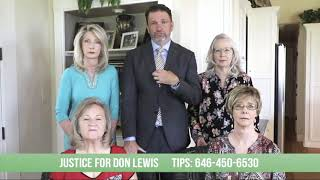 Justice for Don Leẁis ad as aired in Tampa during Dancing with the Stars
