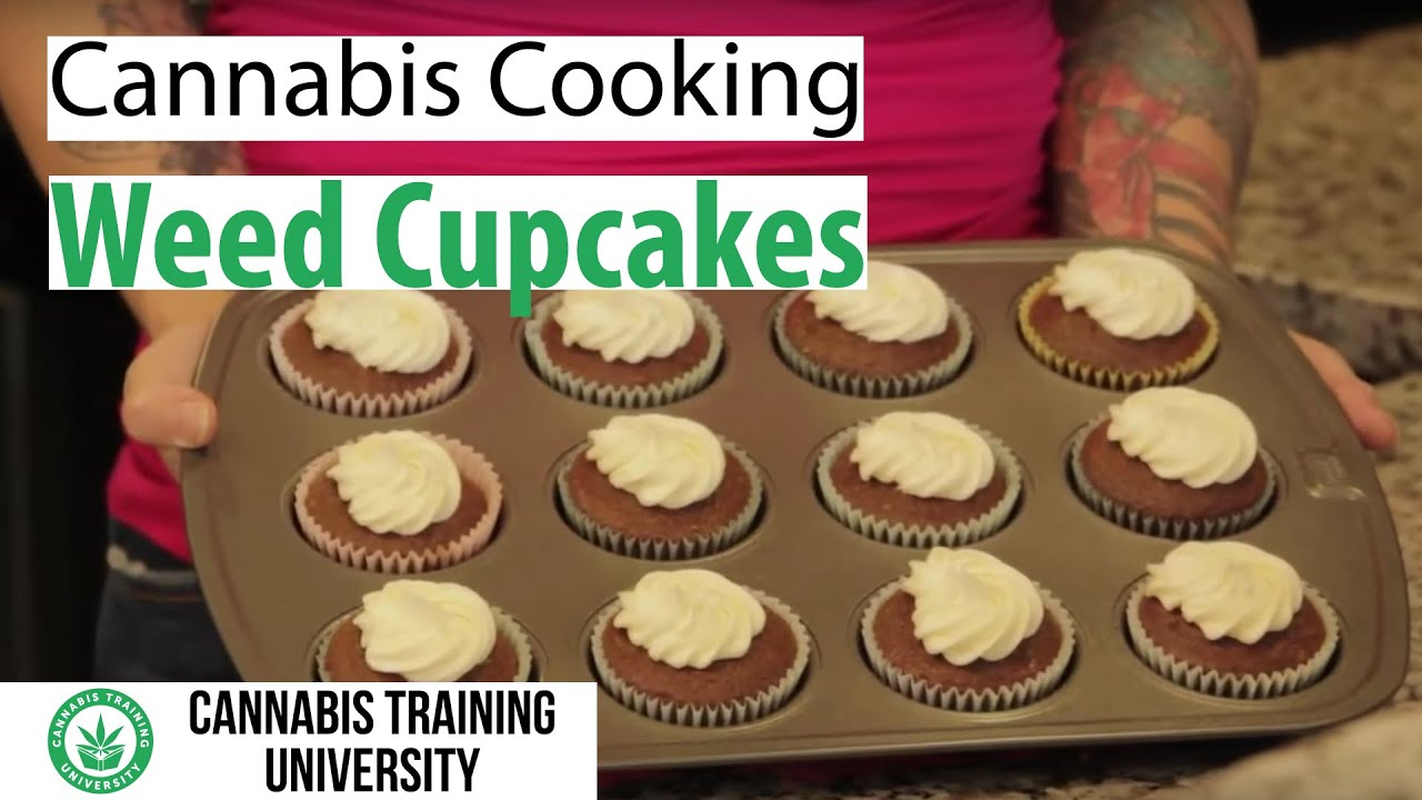 How To Make Weed Cupcakes Cannabis Cupcakes Recipe Youtube