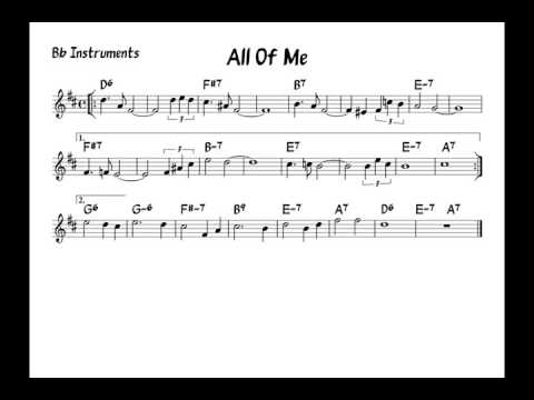All of me - Play along - Bb version