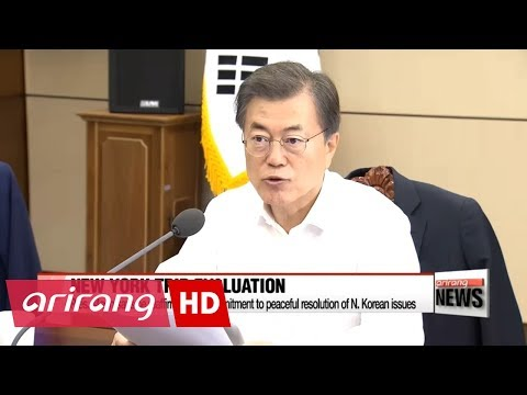 Pres. Moon stress bipartisan effort to deal with North Korean nuclear issue