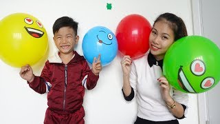 Bong and Mommy Learn Color With colorful balloons for kids video