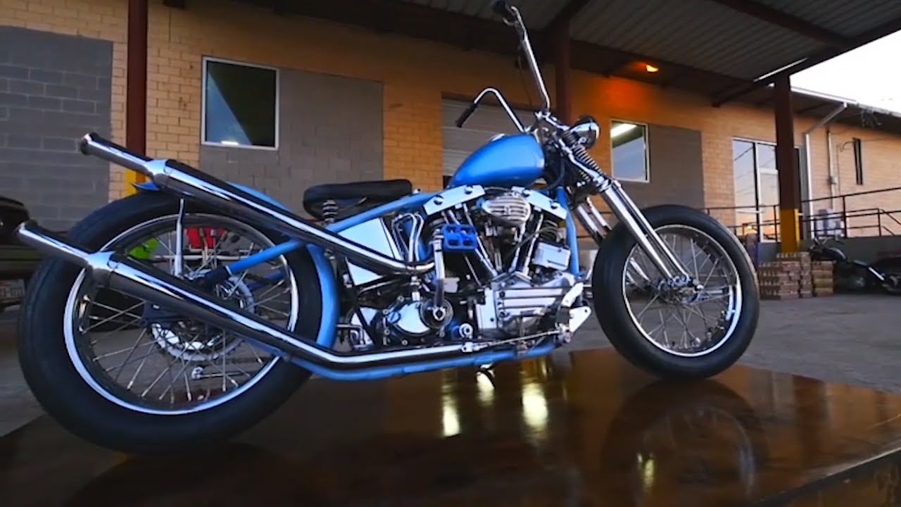 1969 Harley Shovel Head Chopper - Giddy Up Pinups - Lowbrow Customs