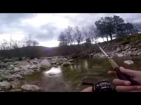 pêche de la truite au leurres en ardèche #01