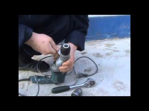 дрель ударная заменить патрон