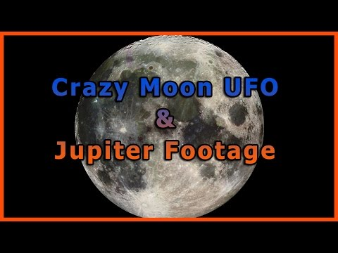 Crazy Moon Object (UFO) & Jupiter Filmed Using Eyepiece Proj