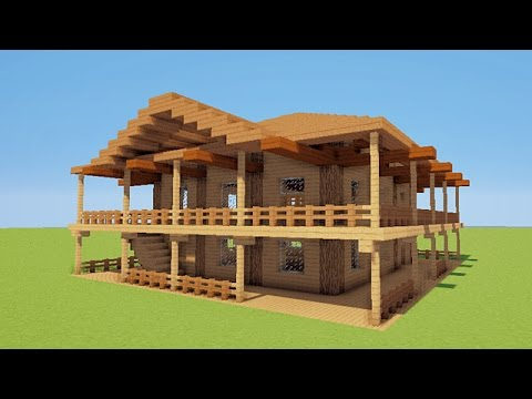 minecraft tuto comment faire une maison de luxe de plage youtube. Black Bedroom Furniture Sets. Home Design Ideas