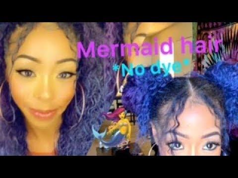DIY MERMAID HAIR 2019 *NO DYE OR BLEACH*