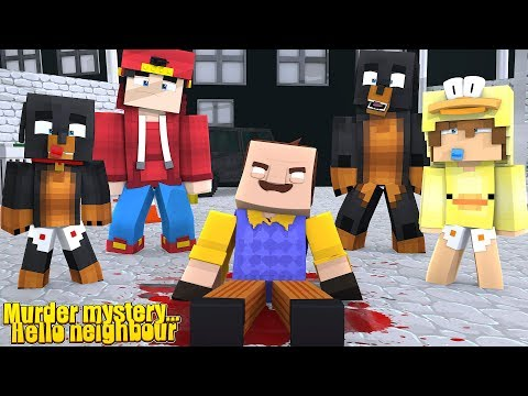 Minecraft THE MURDERED ONES - DONUT THE DOG IS THE MURDERER & MURDERS HELLO NEIGHBOUR!!
