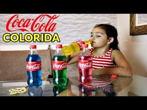 COCA COLA COLORIDA !?!? - LEARN COLORS WITH COCA COLA - LIPSTICK WITH COCA COLA