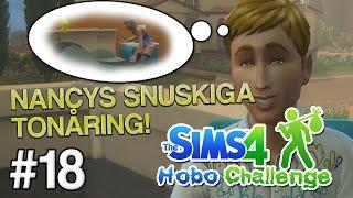 NANCYS SNUSKIGA TONÅRING! | The Sims 4 Hobo Challenge - #18