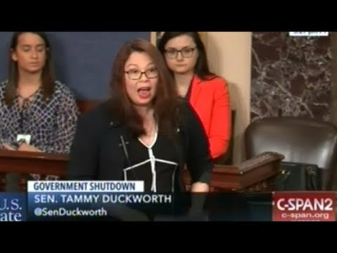 """Senator Duckworth """"I WILL NOT BE LECTURED ABOUT WHAT OUR MILITARY NEEDS BY A 5 TIME DRAFT DODGER!"""""""